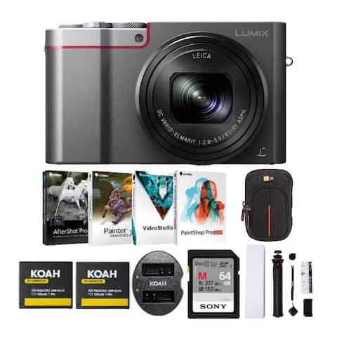 Panasonic LUMIX ZS100 20.1MP 4K Digital Camera (Silver) Holiday Bundle