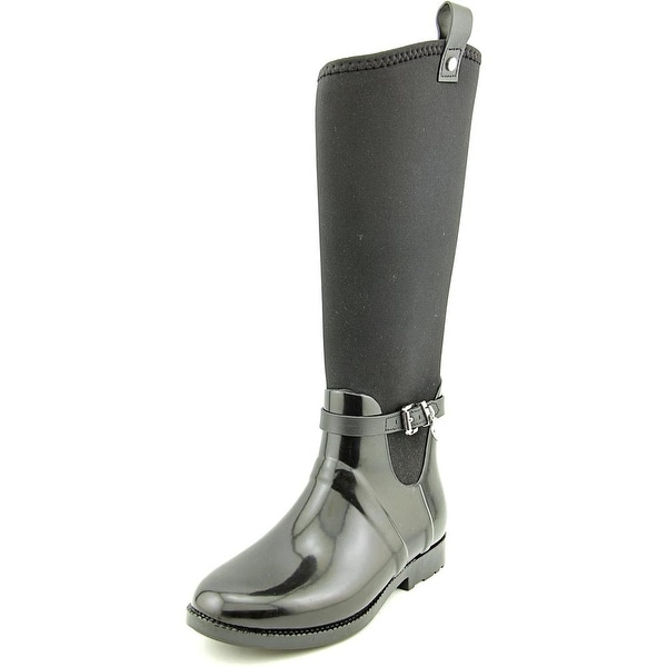 Michael Michael Kors Charm Stretch Rainboot Women Black Snow Boots