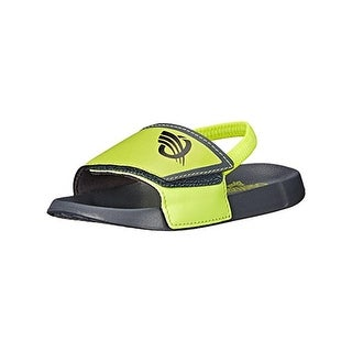 Osh Kosh Boys Shower Flat Sandals Colorblock Slingback - 9-10 medium (d)