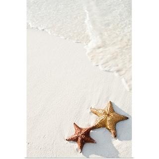 """Starfish on tropical beach."" Poster Print"