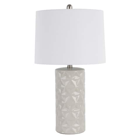 Porter Patterned Ceramic LED Table Lamp
