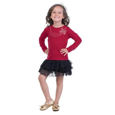 Pulla Bulla Little Girl Everyday Long Sleeve Shirt
