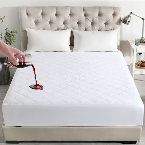 """Waterproof Mattress Pad with Stretch Skirt Up to 16"""""""