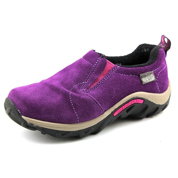 Merrell Jungle Moc Frosty Wtp Youth  Round Toe Suede Purple Loafer