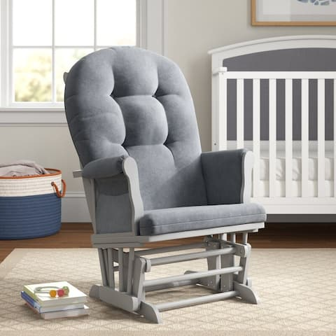 Bentley Button-tufted Nursery Glider w/ Removable Cushions
