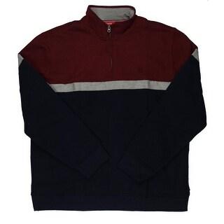 Izod Mens Heathered Colorblock 1/2 Zip Sweater