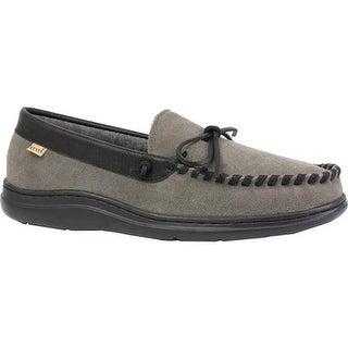 L.B. Evans Men's Atlin Slipper Gray Suede/Terry Lining