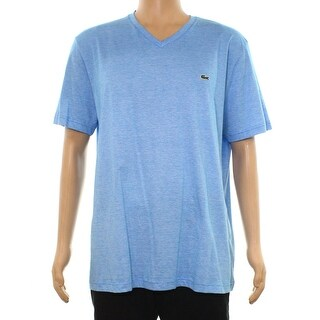 Lacoste Men's V Neck Regular Fit Stripe T-Shirt