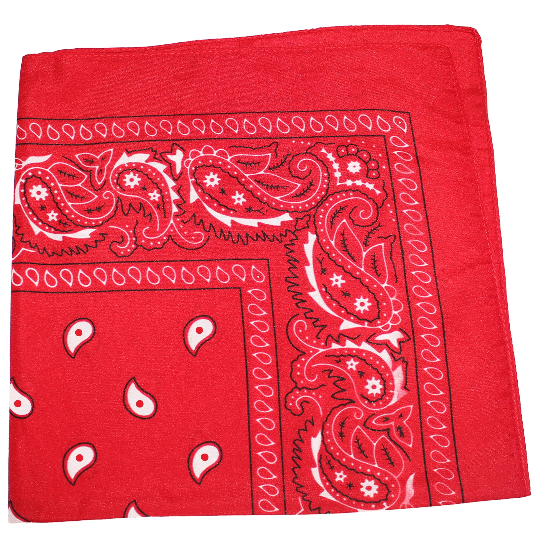 Unisex 100/% Cotton Dacron Paisley Bandanas Double Sided Head Wrap Scarf Hot