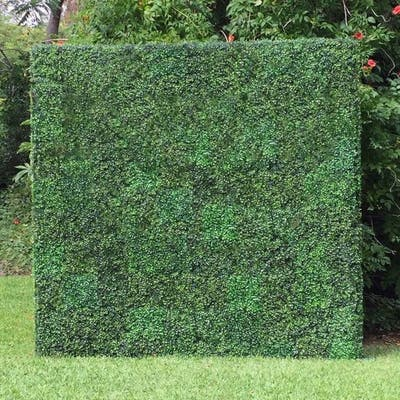 Artificial Boxwood Hedge 20-inch Greenery Panels (Set of 12) - 12pc