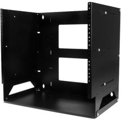 "Startech 8U 12"" X 18"" Wall-Mount Server Rack With Built-In Shelf, Black (Wallshelf8u)"