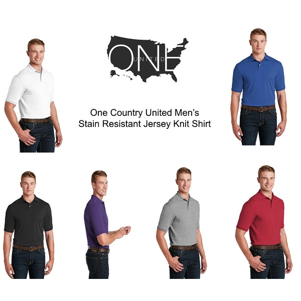 One Country United Mens Stain Resistant Jersey Shirt