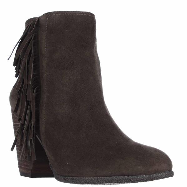 Vince Camuto Hayzee Fringe Ankle Boots, Italian Olive - 9 us / 39 eu