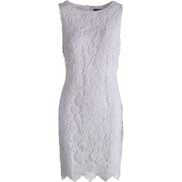 Lauren Ralph Lauren Womens Casual Dress Lace Sleeveless