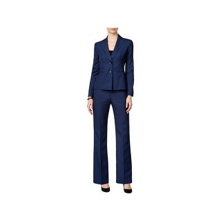 Le Suit Womens Pant Suit Button Front 2PC