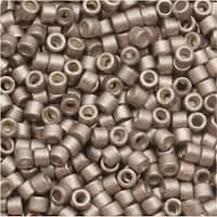 Miyuki Delica Seed Beads, 11/0 Size, 7.2 Grams, Galvanized Silver Frost Pewter DB1159