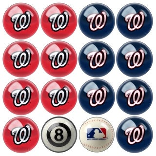 MLB Washington Nationals Baseball Billiard Balls Complete Set of 16 Balls