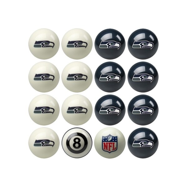 2988bef68ac Shop NFL Seattle Seahawks Home vs. Away Team Billiard Pool Ball Set - White  - Free Shipping Today - Overstock.com - 18265354