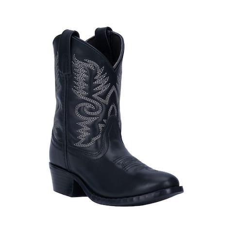 "Dan Post Western Boots Boys Bandito 8"" Shaft Round Black"