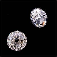Swarovski Crystal, 5041 Large Hole Rondelle Beads 12mm, 2 Pieces, Crystal Silver Shade