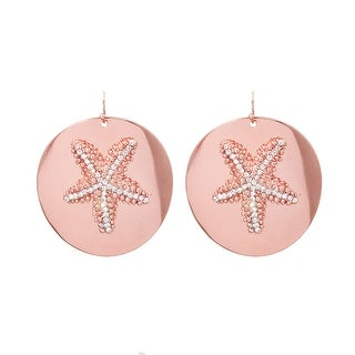 Starfish Rose Gold Earrings - Rose Gold