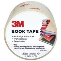 3M Economy Book Tape, 2.83 x 540 Inches, 3 Inch Core, Clear