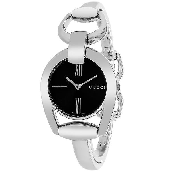 e513d395a0c Shop Gucci Women s Horesebit YA139503 Black Dial watch - Free Shipping Today  - Overstock - 24225419