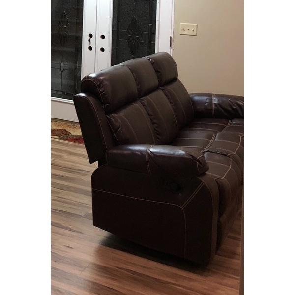 Coaster Company Brown Leather Motion Sofa