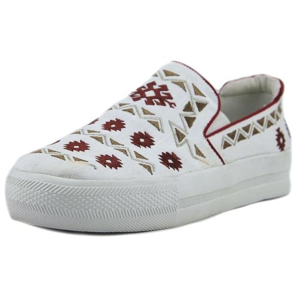 Luxury Rebel Juniper White/Red Flats