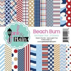 "Beach B'um - Pink & Main Double-Sided Paper Pad 6""X6"" 24/Pkg"