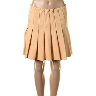 Zara Womens Pull On Knee Length Pleated Skirt