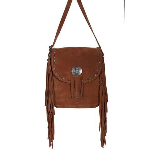 Scully Western Handbag Womens Crossbody 10 x 11.5 x 2.5 Brown - 10 x 11.5 x 2.5