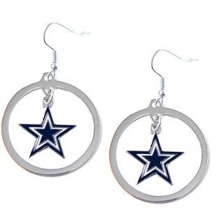 Dallas Cowboys Hoop logo Earring Set Charm Gift - NFL