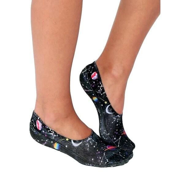 Constellations Adult Liner Socks - Black