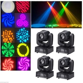 4x RGBW LED DMX Moving Head Spot Light DJ Club Party Show Stage Lighting Effect