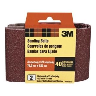 "3M 9285-2 Power Sanding Belt 3""x21"", 40 Grit, Extra Coarse"