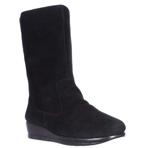 Aerosoles Plantation Wedge Winter Boots, Black - 8 US