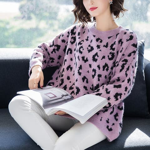 2019 New Explosions Women's Leopard Sweater
