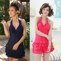Women Plus Size One Piece Push Up Bathing Suit Swimsuit Beach High Waist Swimwear