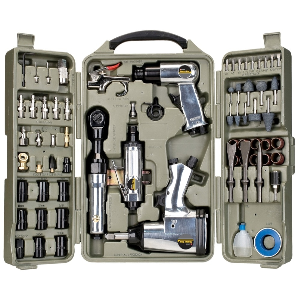 71 Piece Air Tools and Accessories for Home Shop Construction and Automotive
