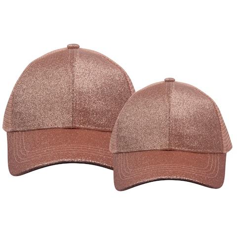 Top Headwear Mother/Daughter Ponytail Bun Trucker Hat