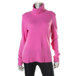 Lauren Ralph Lauren Womens Cashmere Blend Turtleneck Pullover Sweater - L