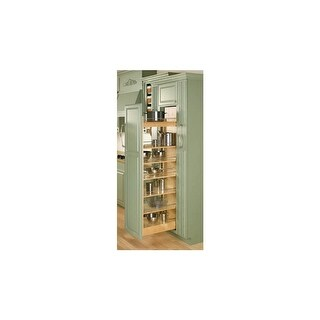 "Rev-A-Shelf 448-TP51-11-1 448 Series 11"" Wide by 51"" Tall Pull Out Pantry Cabinet Organizer with Five Adjustable Shelves"