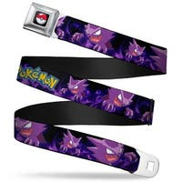 Pok Ball Full Color Black Pokmon Haunter Poses Smoke Black Purples Seatbelt Belt