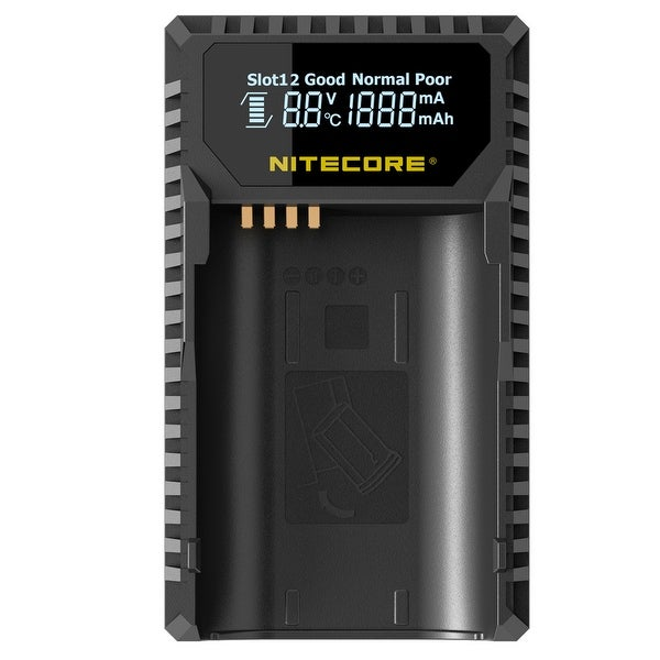 NITECORE ULSL Leica Digital USB Battery Charger for BP-SCL4 Camera Batteries