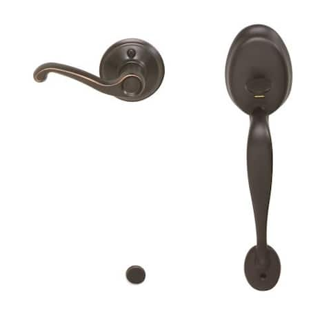 Schlage FE285-PLY-FLA-RH Plymouth Lower Handleset for Electronic Keypad with Flair Interior Right Handed Lever