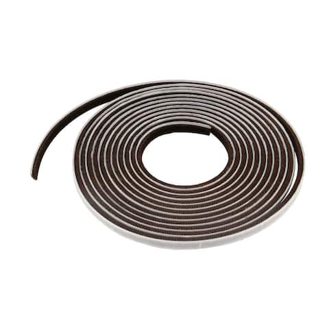 Door Seal Strip Weather Stripping for Window Brown 16.4 Ft(3/8 Inch Width x 1/4 Inch Thick)