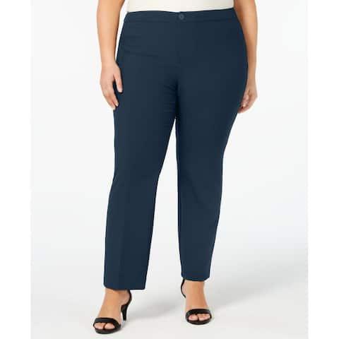 Charter Club Womens Pants Blue Size 26W Plus Straight Leg Stretch