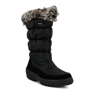 Spring Step Women's Vanish Quilted Waterproof Winter Boot Black Nylon