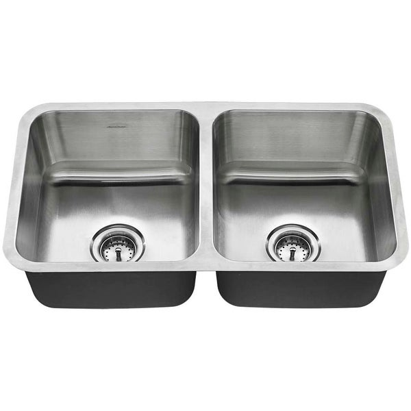 """American Standard 18DB.9321800T American Standard 32"""" Double Basin Stainless Steel Kitchen Sink for Undermount Installations -"""